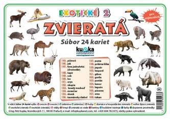 Súbor 24 kariet - zvieratá (exotické 2) - Kupka Petr