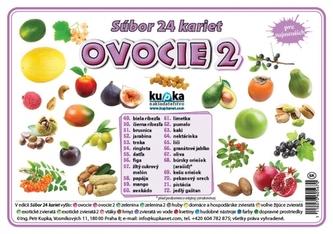 Súbor 24 kariet - ovocie 2 - Kupka Petr