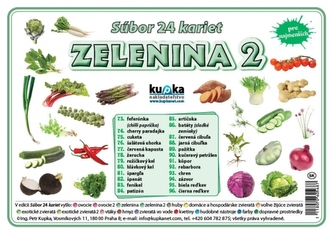 Súbor 24 kariet - zelenina 2 - Kupka Petr