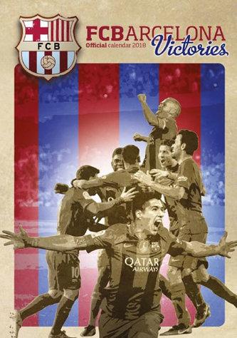 Barcelona FC Victories - nástěnný kalendář 2018 - neuveden