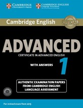 Cambridge English Advanced 1 for exam from 2015: Self-study pk (SB with answers & Audio CDs (2))