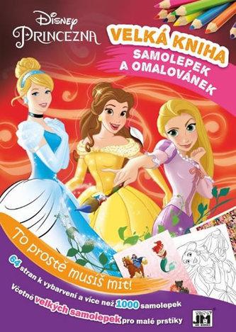 Princezny - Kniha samolepek a omalovánek - neuveden