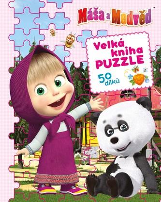 Máša a medvěd - Velká kniha puzzle - Linda Perina