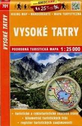 Vysoké Tatry mapa tmč. 701 1:25T SC