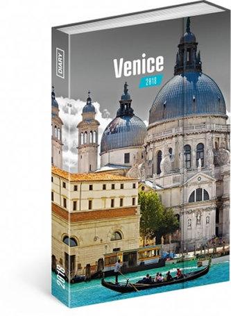 Diář 2018 - Benátky, týdenní magnetický, 10,5 x 15,8 cm - neuveden