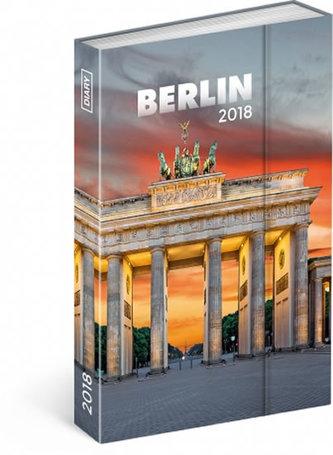 Diář 2018 - Berlín, týdenní magnetický, 10,5 x 15,8 cm - neuveden