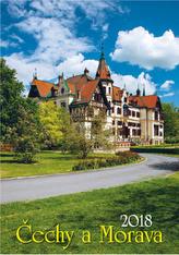 Čechy a Morava 2018 - nástěnný kalendář