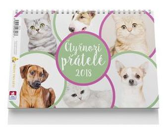 Čtyřnozí přátelé - stolní kalendář