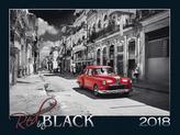 Red in black 2018 - nástěnný kalendář