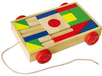 Vozík malý dřevěný