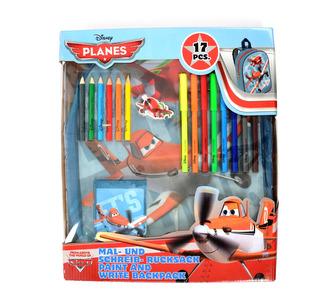 Malířské potřeby Planes v batohu 17 ks
