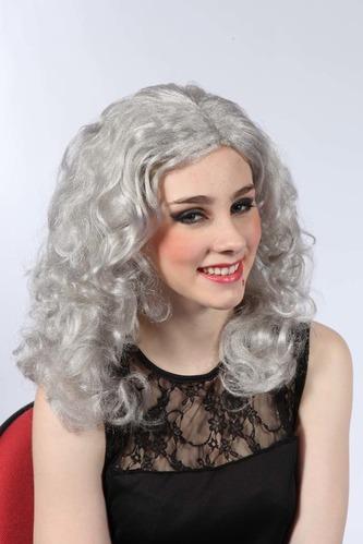 Paruka bílá - dlouhé vlnité vlasy - HM Studio