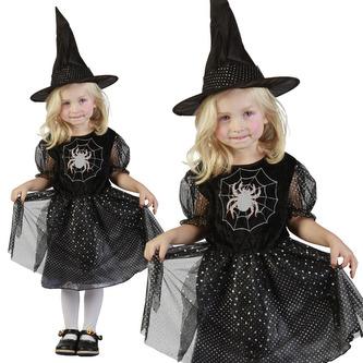 Kostým čarodějka 92 - 104 cm