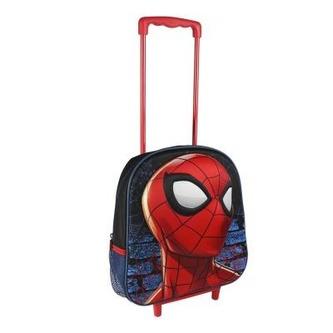 Batoh 3D Spiderman s vysouvací držadlem a kolečky