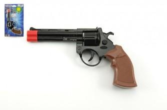 Teddies - Pistole na kapsle 8 ran kov 19cm na kartě