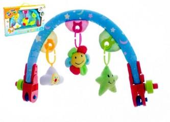 Hrazda pro děti plyš/plast v krabici 50x32x6,5cm 6m+ - Teddies