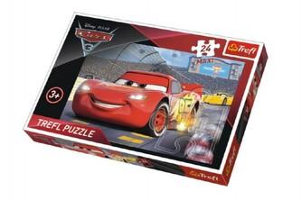 Trefl - Puzzle MAXI Auta/Cars 3 Disney 24 dílků 60x40cm v krabici 39x26x4cm