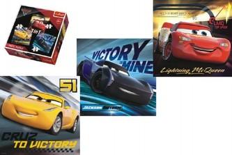 Trefl - Puzzle 3v1 Auta/Cars 3 Disney 20,50,36 dílků v krabici 28x28x6cm