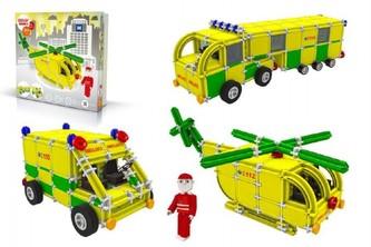 Stavebnice Seva Rescue 3 Záchranáři plast 537ks v krabici 35x33x8cm - Vista