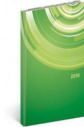 Diář 2018 - Cambio - kapesní, Kruhy, 9 x 15,5 cm