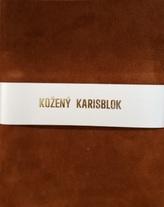 Kožený karisblok A5