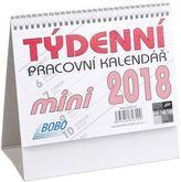 Týdenní pracovní kalendář mini 2018