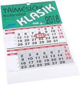 Tříměsíční kalendář Klasik 2018