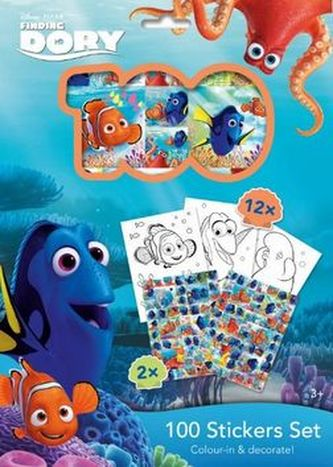 100 Stickers Set Hledá se Dory