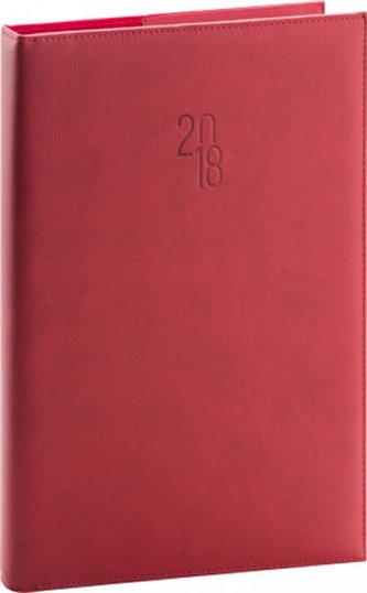 Diář 2018 - Prestige - denní A4, červený, 21 x 29,7 cm