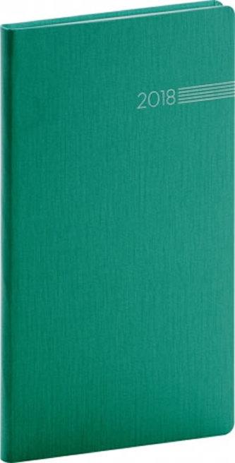 Diář 2018 - Capys - kapesní, zelený, 9 x 15,5 cm