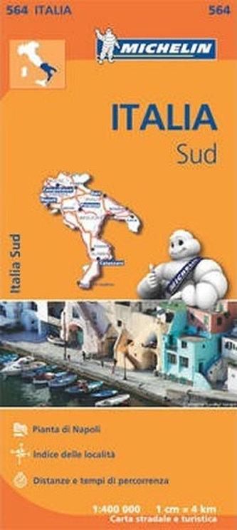 Italia Map Sud - 1:400 000 (564 Michelin) - neuveden