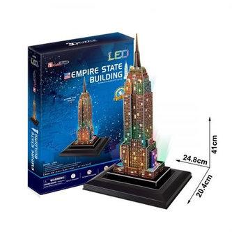 Puzzle 3D Empire State Building/LED - 38 dílků - CubicFun