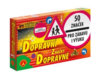 Dopravní značky společenská hra v krabici 25x14cm