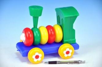 Směr - Lokomotiva/Vlak skládací tahací plast 20cm 24m+