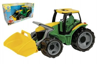Lena - Traktor se lžící plast zeleno-žlutý 65cm v krabici od 3 let