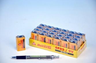 Baterie Prima 6F22/9V zinkochloridové 24ks v boxu