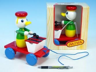 Miva - Kačer s xylofonem tahací barevný 20cm v krabičce