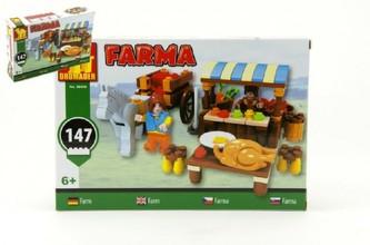 Stavebnice Dromader Farma 28406 147ks v krabici 22x15x4,5cm