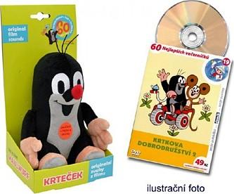 Moravská Ústředna - Krtek mluvící plyš 20cm na baterie se zvukem + DVD v krabici