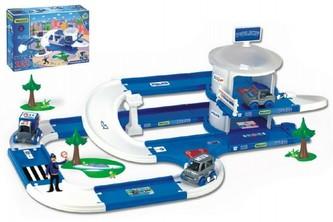 Kid Cars 3D Policie plast 3,8m v krabici 59x40x15cm 12m+ Wader
