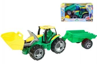 Lena - Traktor se lžící 60cm a přívěsem 45cm plast v krabici