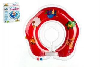 Plavací nákrčník Flipper/Kruh červený v krabici 17x20cm 0+