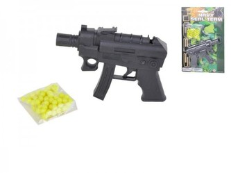 Pistole na kuličky 12cm + kuličky na kartě