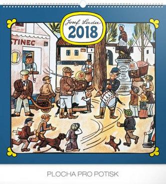 Kalendář nástěnný 2018 - J. Lada - Náves 48 x 46 cm (prodloužená verze) - neuveden