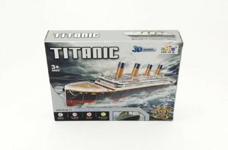 Pěnové puzzle 3D Titanic 80x20x11cm 113 dílků v krabici