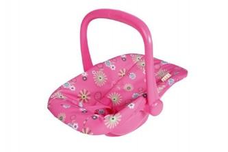 Nosítko autosedačka s látkovým potahem pro miminko/panenky plast 25x42x34cm v sáčku - Teddies
