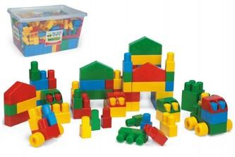 Kostky stavebnice Middle Block plast 240ks v plastovém boxu 59x35x39cm Wader