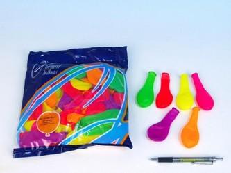 """Smart Balloons - Balonek nafukovací 7"""" párty neon 100 ks v sáčku 22x28cm karneval"""