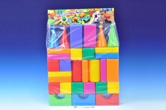 Teddies - Stavebnice kostky velké 30ks plast v sáčku 47x66x8cm