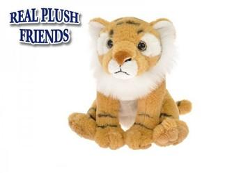 Tygr plyšový 15cm sedící 0m+